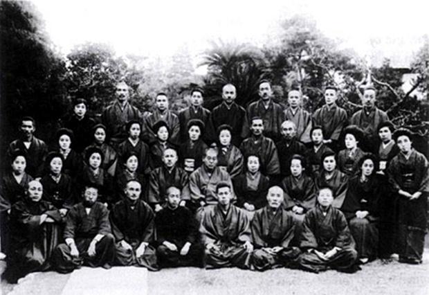 Mikao Usui se svými žáky v roce 1925.